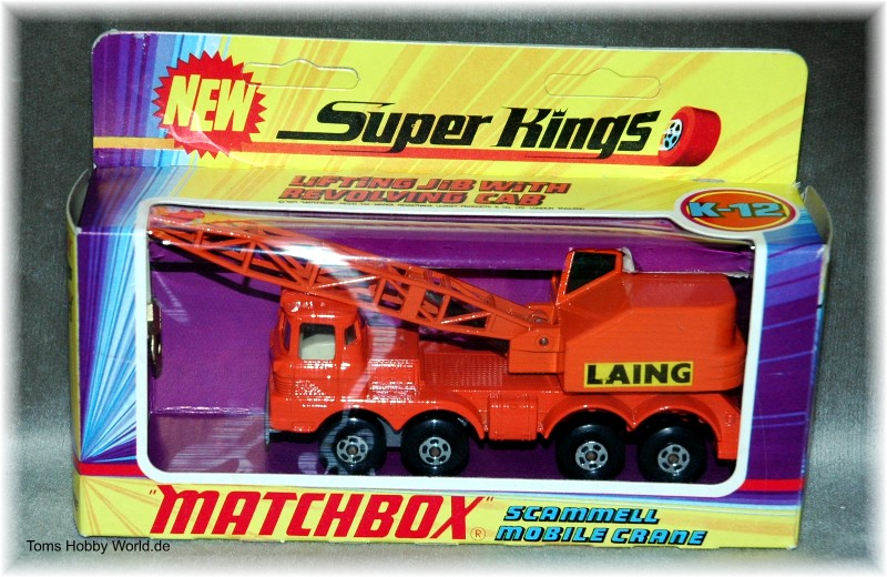 Matchbox SuperKings K-12 Scammel Mobile Crane