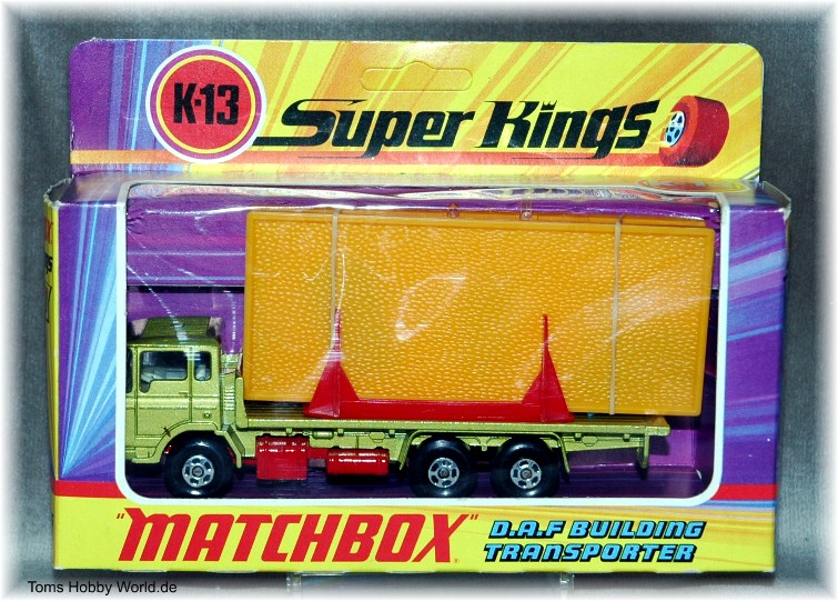 Matchbox SuperKings K-13 DAF Building Transporter