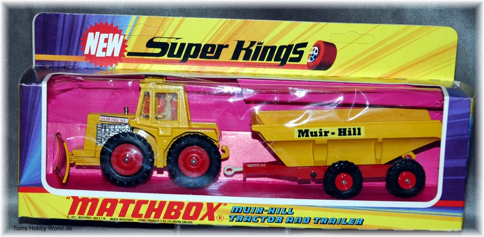 Matchbox SuperKings K-5 Muir-Hill Tractor and Trailer