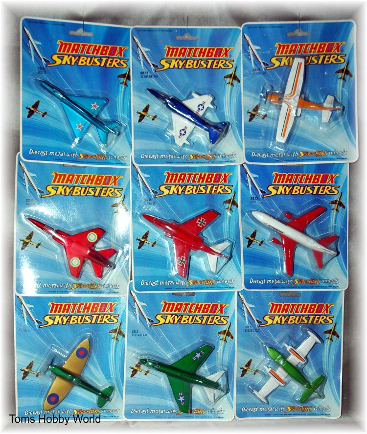 Matchox Sky Busters Sortiment