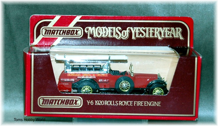models of yesteryear Y-6 Rolls Royce Fire Engine