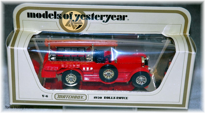 models of yesteryear Y-6 Rolls Royce FireEngine 1920