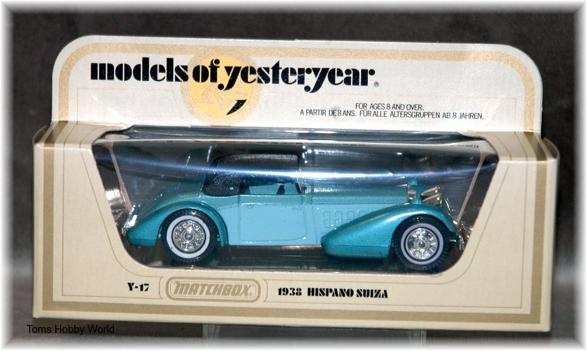 models of yesteryear Y-17 Hispano Suiza 1938