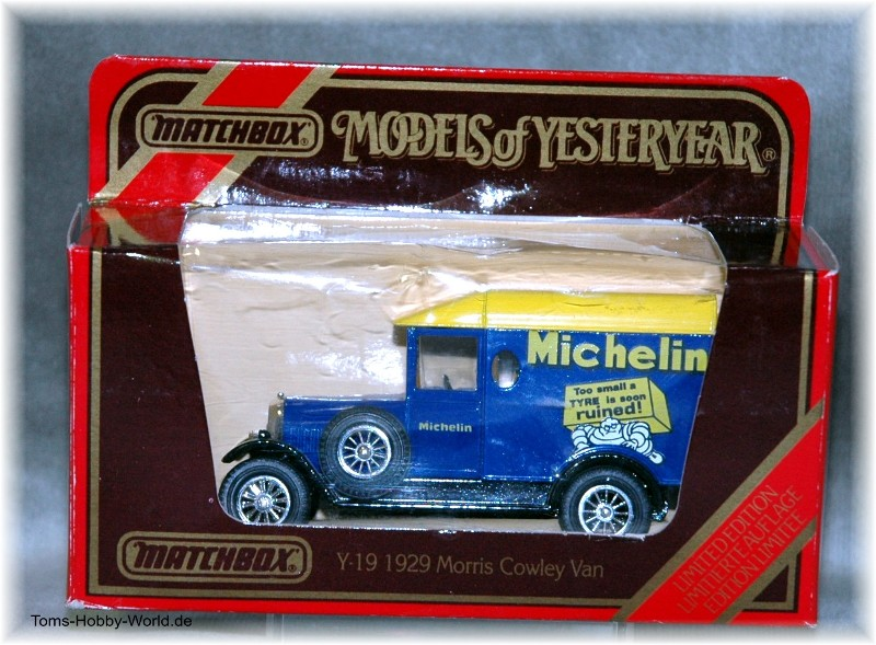 models of yesteryear Y-19 1929 Morris Cowley Van