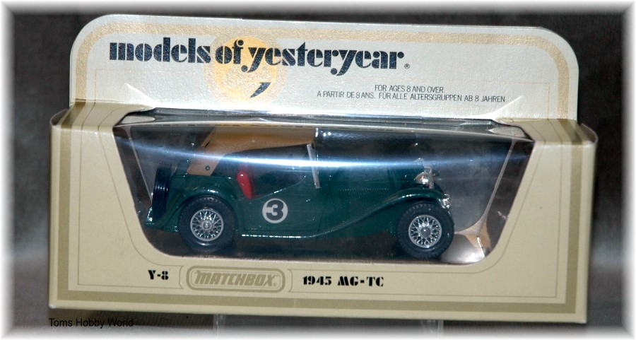 models of yesteryear Y-8 MG-TC 1945