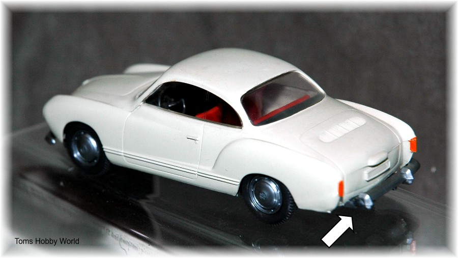 Wiking 143 VW Karmann  Ghia Coupe